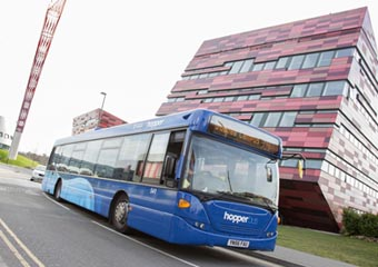 Hopper Bus on Jubilee Campus