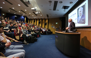 Sir Vince Cable in the lecture theatre