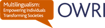OWRI Multilingualism logo