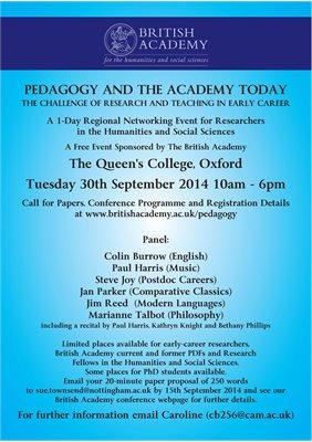 British Academy regional networking event - The University