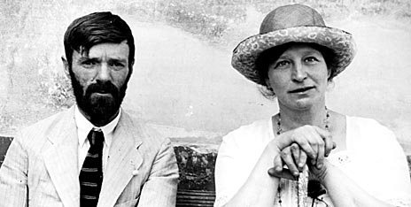 pic05 - Photograph of D.H. Lawrence and Frieda Lawrence in Chapala, Mexico, 1923