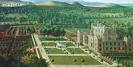 pic16 - Detail from a painting of Wollaton Hall by Jan Siberechts, 1697