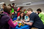 Visitors take on the Rubix Cube challenge