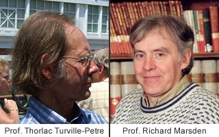 Professor Thorlac Turville-Petre and Professor Richard Marsden