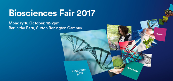 Advert for the Biosciences Fair 2017