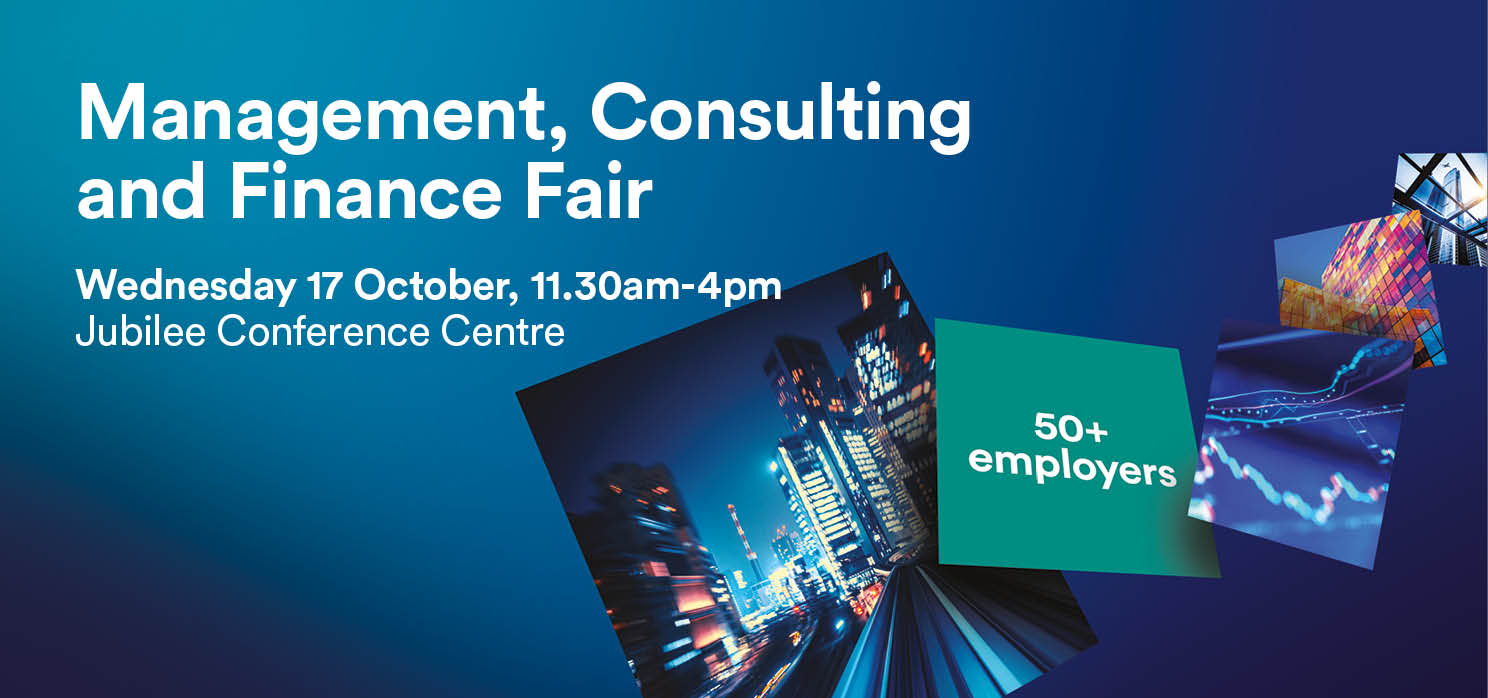 Management Consulting and Finance Fair web banner