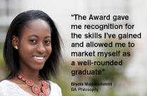 Quote from Award graduate