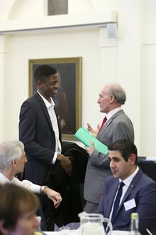 Student and VC at VC's Awards