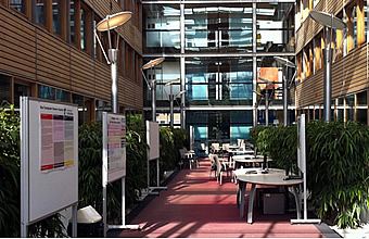 computer science atrium ready for open day