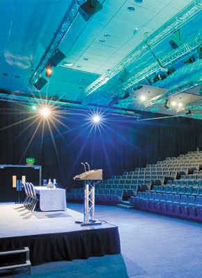Conference theatre at East Midlands Conference Centre