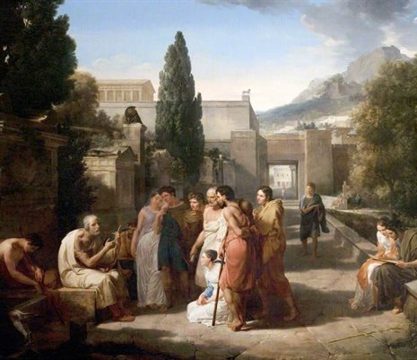Homer Singing His Iliad at the Gate of Athens, Guillaume Lethière (1760–1832)