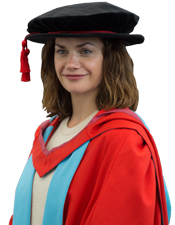 Actress Ruth Wilson at graduation to receive her honorary degree