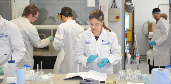 Students in a practical lab session