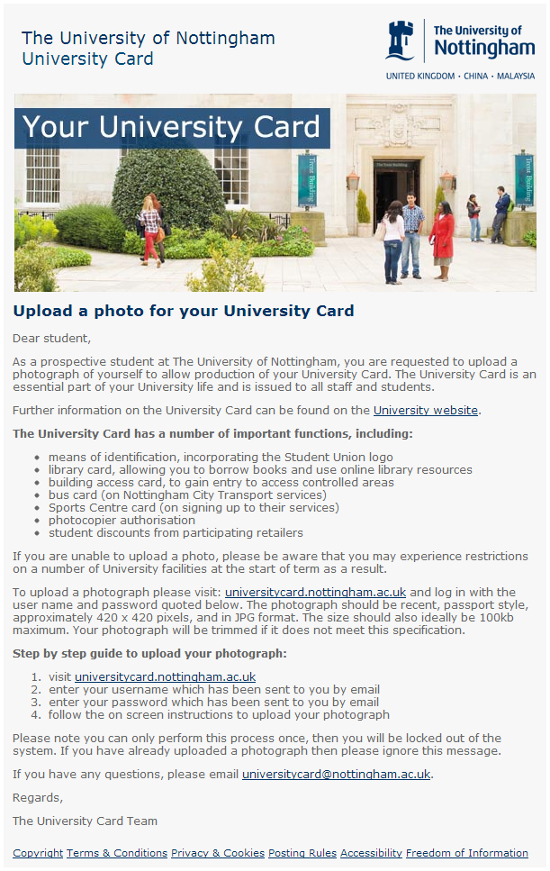 Uni Card Email