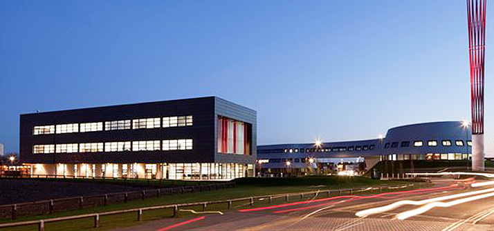 NGI Building on Jubilee Campus at night