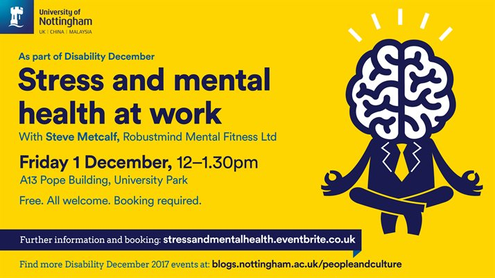 Stress and mental health at work - The University of ...