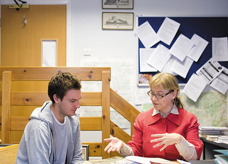 Claire Taylor teaching a student