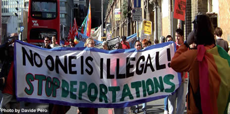 No one is illegal! Stop Deporations - Photo by Davide Pero