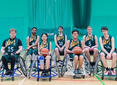 University of Nottingham wheelchair basketball team