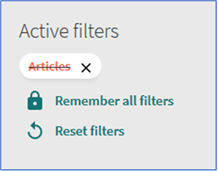 "Showing ""Articles"" excluded in active filters after applying an exclude filter"