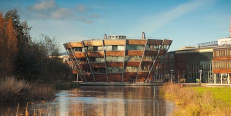 External view of Djanogly Learning Resource Centre on Jubilee Campus