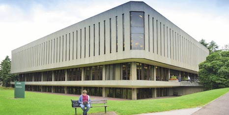 External view of Hallward Library on University Park