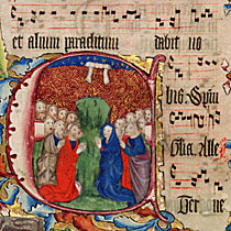 Detail from the Wollaton Antiphonal