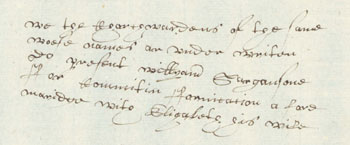 Example of Thomas Holland's handwriting