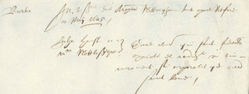 Example of Hatfield Reckles's handwriting