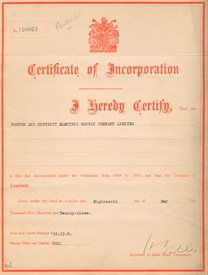 Certificate of Incorporation, BEB 6-1
