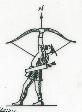Robin Hood Compass Rose, taken from an East Midlands Electricity Board map, DocRef BEE-4-5