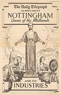 Front cover 'Nottingham Queen of the Midlands and its Industries', Daily Telegraph Supplement, 16 Sep. 1935