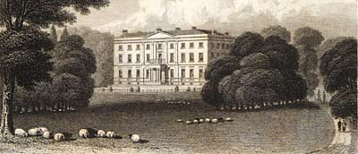 Engraving of Serlby Hall, c.1813, from Hodgson and Laird's 'The Beauties of England and Wales'
