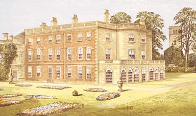 Colour illustration of Clifton Hall from c.1880