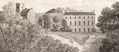 Etching showing Clifton Hall in 1791