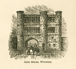Illustration of Wiverton Gatehouse, from Transactions of the Thoroton Society, 1903, p. 133