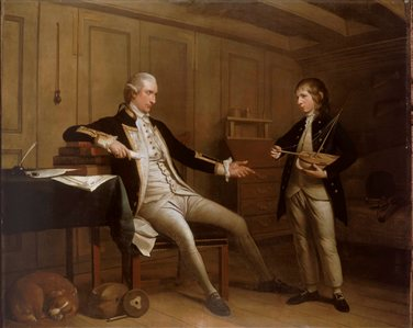 Captain John Bentinck, 1737-75, and his son, William Bentinck, 1764-1813, by Mason Chamberlin, 1775. (c) National Maritime Museum. Source: http://collections.rmg.co.uk/collections/objects/14024.htmlCaptainJohnAlbertBentinck