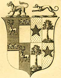 Coat of arms of William Drury Lowe, 19th century