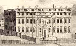 Engraving of the first Thoresby Hall