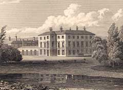 Engraving of the second Thoresby Hall