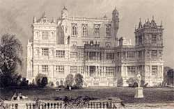 Engraving of Wollaton Hall, Nottinghamshire from 1837