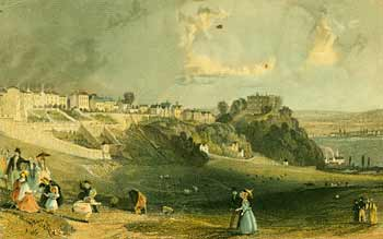 Nineteenth century watercolour painting of Nottingham Park