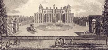 Engraving of Worksop Manor from 1795