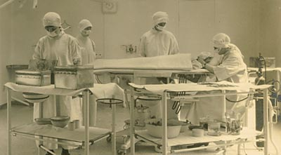 Photograph of the operating theatre in 1927