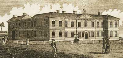 Engraving of the Nottingham General Hospital from 1788