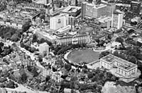 Aerial photograph of Nottingham General Hospital from 1972