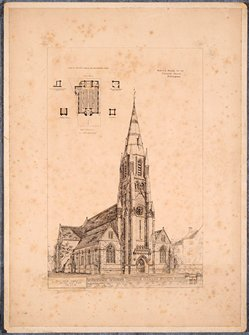 Design for the new High Pavement Chapel, 1873 (Hi P 14/5)