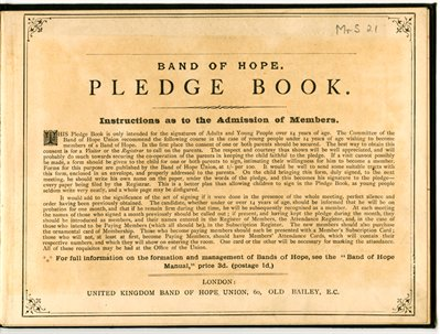 Pledge book from Mansfield Road Baptist Church, n.d. (Mr S 21)