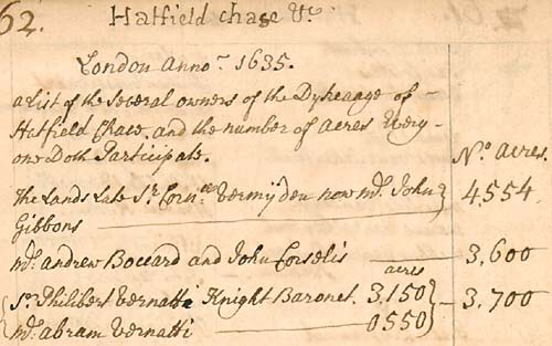 Handwritten list of names (mainly Dutch) and the number of acres they were liable for