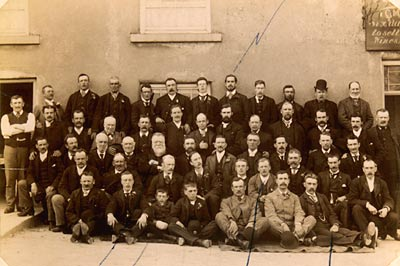 Group photograph of Nottingham Corporation Waterworks employees